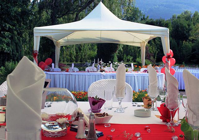 Сватба в ботаническата градина, София