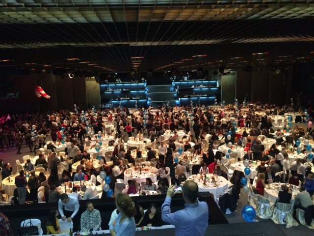 Коледно парти на ОББ Зала 3 на НДК 950 гости
