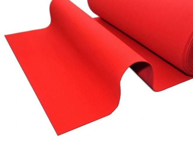 Червена пътека от мокет , р-ри: 1 х 4 метра