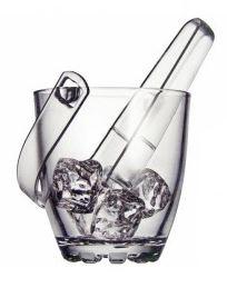 Стъклена ледарка със щипка – 500 мл.